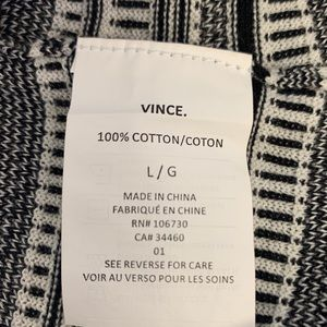 Vince Tops - Vince black & White Striped Sleeveless Sweater